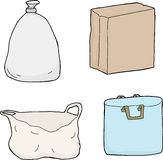 Four Paper and Plastic Bags stock illustration