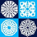 Four paper snowflakes Royalty Free Stock Photos