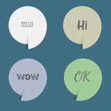 Four paper speech bubbles Stock Photo