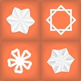 Four paper stars Royalty Free Stock Photo