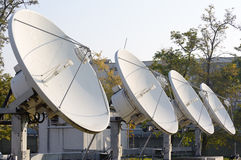 Four parabola antenna Royalty Free Stock Photography