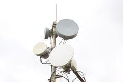 Four parabolic antenna Stock Photo