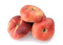 Four paraguayos flat peaches Stock Image