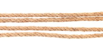 Four parallel ropes. Stock Photo