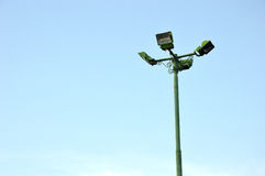 Four park light poles Royalty Free Stock Photos