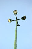 Four park light poles Stock Image
