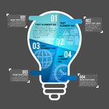 Four Part Bulb Infographic Element Stock Photos