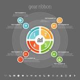 Four Part Circle Infographic Stock Photos