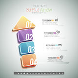 Four Part 3D Flat Arrow Infographic. Vector illustration of four part 3d arrow infographic elements Royalty Free Stock Photos