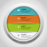 Four Parts Circle Infographic Stock Photo