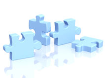 Four parts of a puzzle Royalty Free Stock Photo