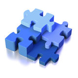 Four parts of a puzzle or solution Royalty Free Stock Photography