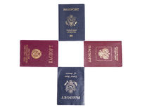Four Passports Stock Photography