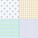 Pastel small vector geometric patterns. Four pastel small vector geometric patterns vector illustration