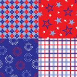 Four patriotic background patterns Stock Photo