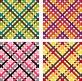 Four patterns Royalty Free Stock Images