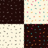 Four patterns with butterflies Royalty Free Stock Image