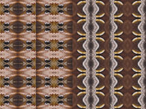 Four patterns from colorful silk butterfly wing Royalty Free Stock Photos