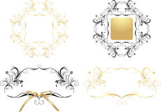 Four patterns for decorative frames Royalty Free Stock Photos