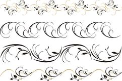 Four patterns of ornament for frame. Vector illustration Royalty Free Stock Photos