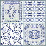 Four patterns. For pillow or for tile vector illustration