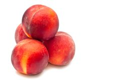 Four peaches Stock Photo