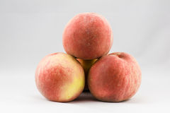 Four peaches Royalty Free Stock Photo
