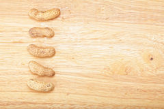 Four peanuts Royalty Free Stock Photography