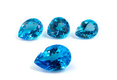 Four pear shape topaz gemstones. Royalty Free Stock Image