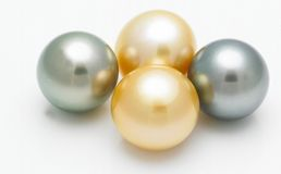 Four pearls Stock Images
