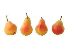 Four pears Stock Photo