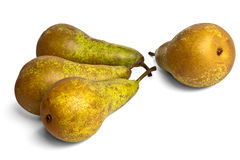 Four pears conference. On a white background Stock Photo