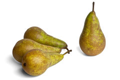 Four pears conference on a white background Royalty Free Stock Photo