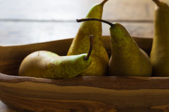 Four pears Royalty Free Stock Photos