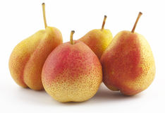 Four pears on white. Background Stock Image