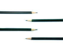 Four pencil on white background. Isoalte Royalty Free Stock Image