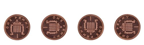 Four Pennies Royalty Free Stock Photo
