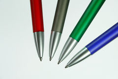 Four pens Stock Photos