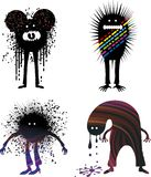 four people strange Απεικόνιση αποθεμάτων
