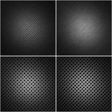 Four perforated metal plates. Insulated from each other Royalty Free Stock Photography
