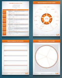 Four performance chart graphics Royalty Free Stock Image