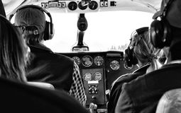 Four Person Riding Aircraft Royalty Free Stock Images