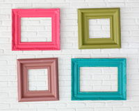 Four photo frames Stock Image