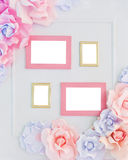 Four photo frames Stock Images