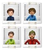 Four Photos Of Men On ID Card