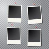 Four photos pins Stock Photos