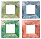 Four picture frames. Four colourful wooden picture frames vector illustration