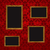 Four picture frames Royalty Free Stock Image