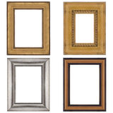 Four picture frames Royalty Free Stock Images
