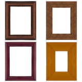 Four picture frames Stock Photography